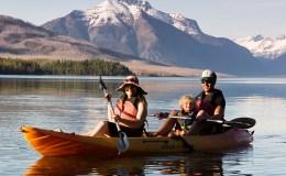 Lake McDonal Tandem Kayak Rental - Glacier Outfitters-1