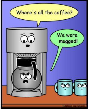 Coffee Mugged Pun