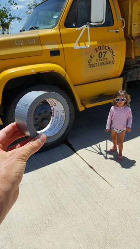 Duct Tape for Yellow Dump Truck