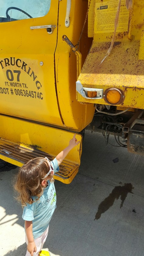 Pointing to Fixed Dump Truck Light Boo Boo