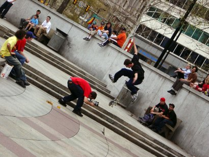 Source: Robert Francis Flickr.  Love Park in the early 2000s.