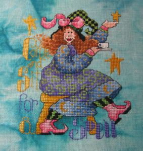 Come and Sit for a Spell designed by Alma Lynne - Stitched by Romilly