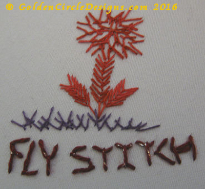 Basic Embroidery Stitches – Fly Stitch