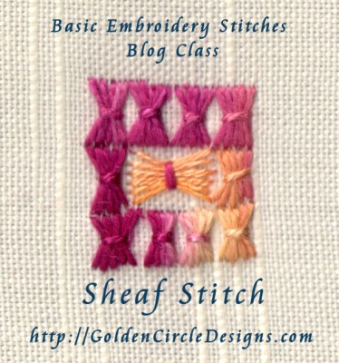 Basic Embroidery Stitches Sheaf Stitch Golden Circle Designs