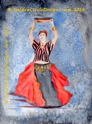 Painting a Tribal Basket Dancer