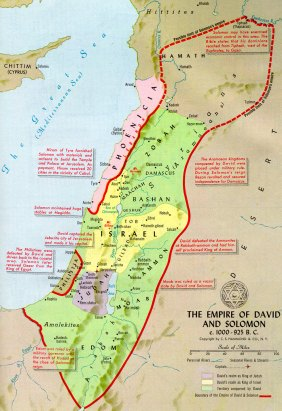 map of davidic israelite kingdom