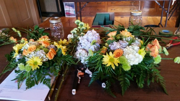 completed centerpieces