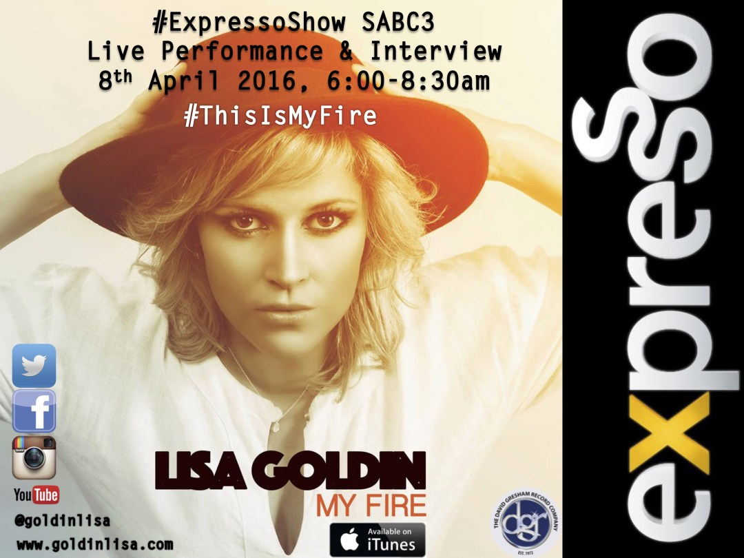 Expresso Show, 8th April - Lisa Goldin