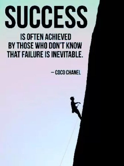 who don't know that failure is inevitable