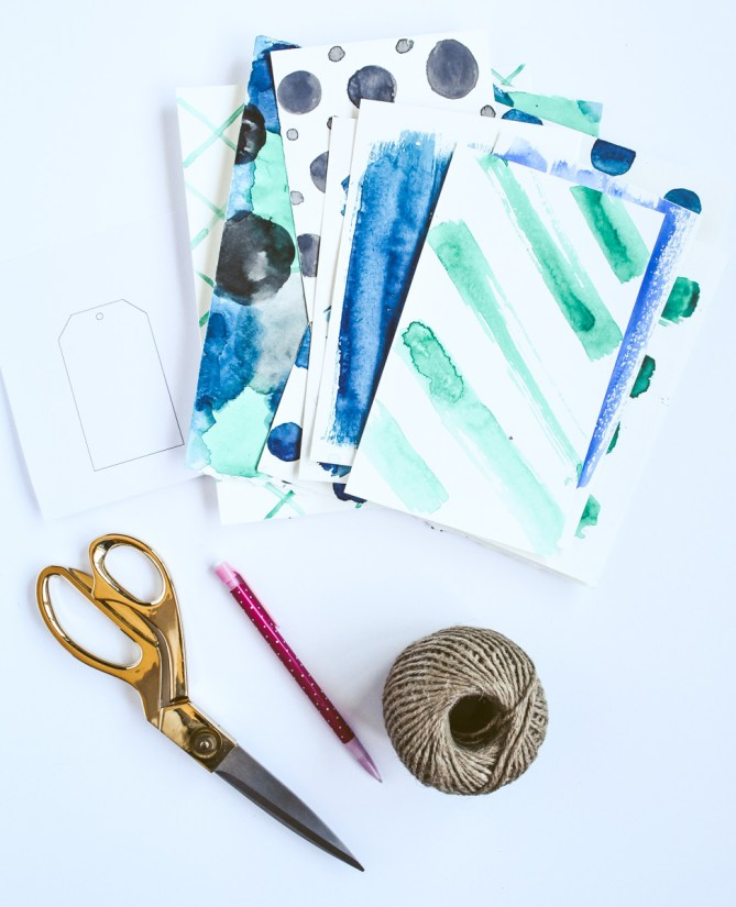 DIY Watercolor Gift Tags by Gold Standard Workshop