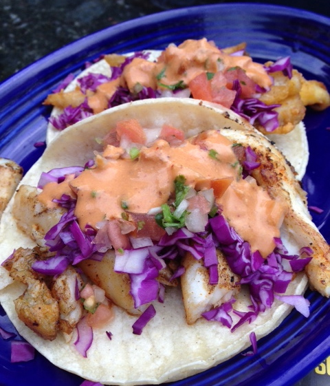 Tacos and Beer's fish tacos