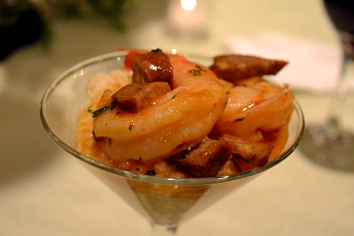 shrimp and grits martinis