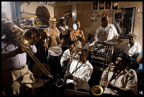 Treme Brass Band at the Candlelight Lounge. Photo by Ryan Hodgson-Rigsbee, courtesy of WWOZ