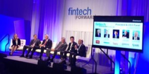 Fintech by the numbers: 5 CEOs, 10 stage lights, 2 flat panels, and 6 amps (with Hendrix-esque feedback)