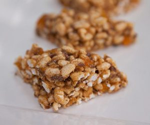 Apricot, Brown Rice and Cashew Butter Treats