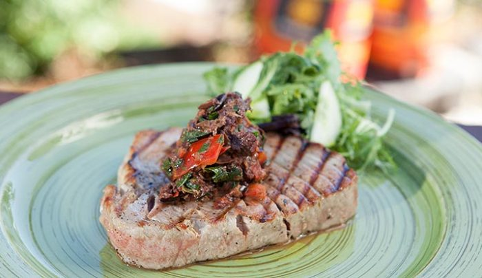 Grilled Tuna with Ligurian Olives & Basil Tapenade - Good Chef Bad ...