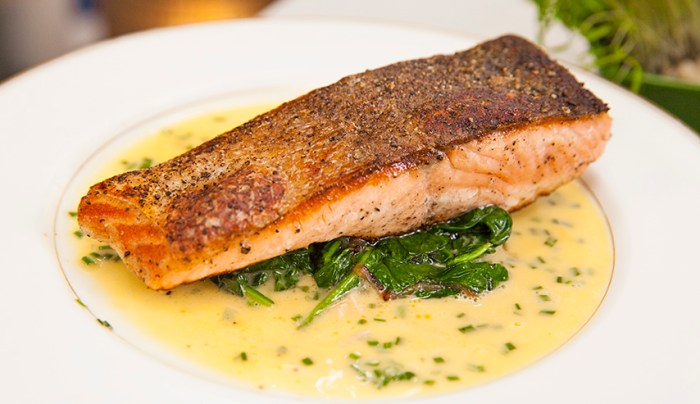 Sear-Roasted Salmon Fillets With Lemon-Rosemary Butter Sauce Recipes ...