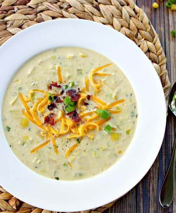 Corn Chowder with Summer Squash - Good Dinner Mom