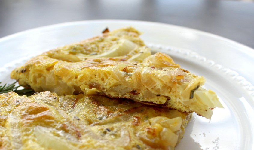 Caramelized Onion and Rosemary Frittata. Simple yet delicious.