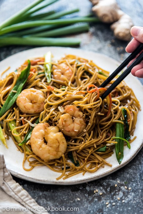 High Quick Shrimp Chow Mein Good Food Channel Delicious Healthy Food Shrimp Lo Mein Crock Pot Shrimp Lo Mein Real And Burst Se Fried Noodles Are Loaded
