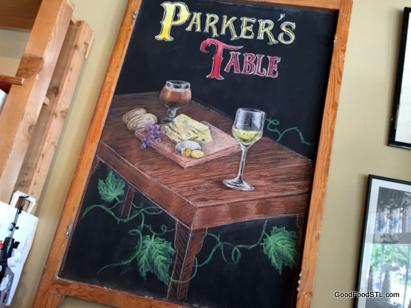 Parker's Table boasts a new artwork over the checkout counter.