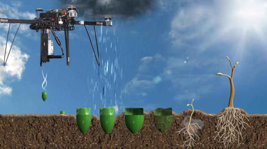 Resultado de imagen para drones biocarbon engineering