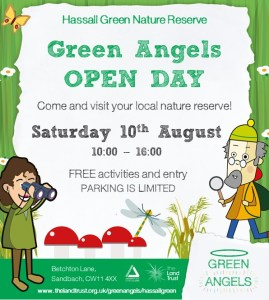 Green Angels Social Media Graphic - open day