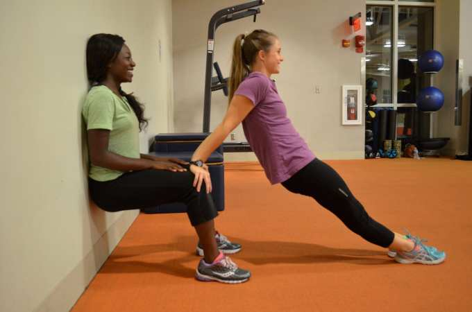 wall sits and tricep dips