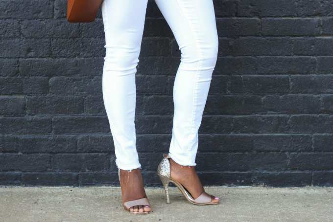 Chinese Laundry Heels and Blank NYC denim// goodtomicha.com