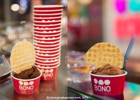 Bono Gelato Podium with Waffle