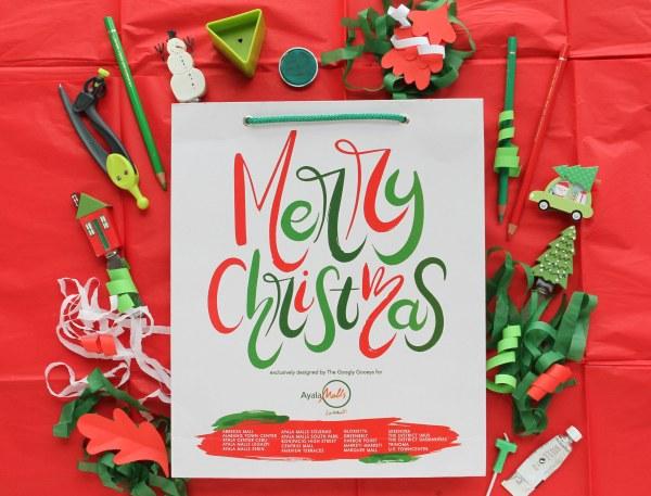 Ayala Malls Merry Christmas Brush Lettering