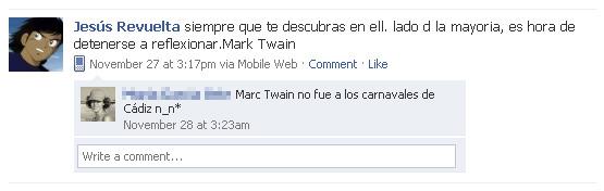 Mark Twain y los Carnavales de Cádiz