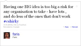 Having one BIG idea…