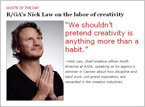 Nick Law y la creatividad como hábito