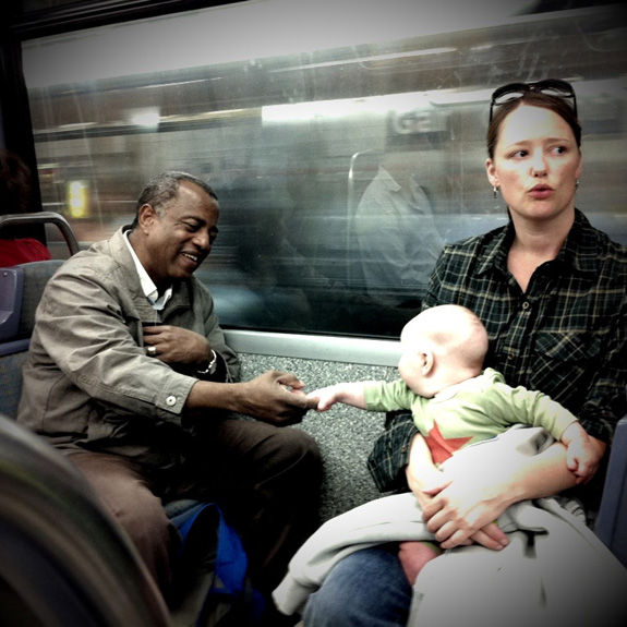 Momento en el vagón de metro