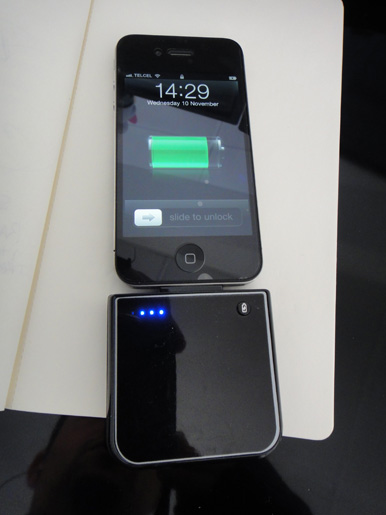Cargador portátil para el iPhone