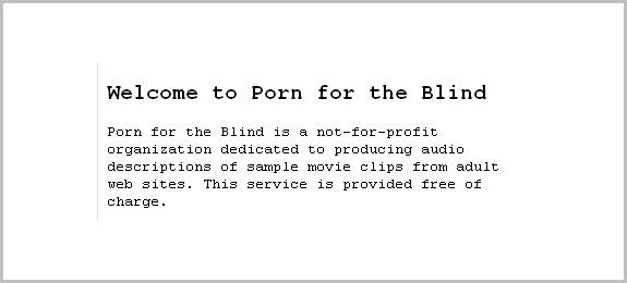 Porno para ciegos