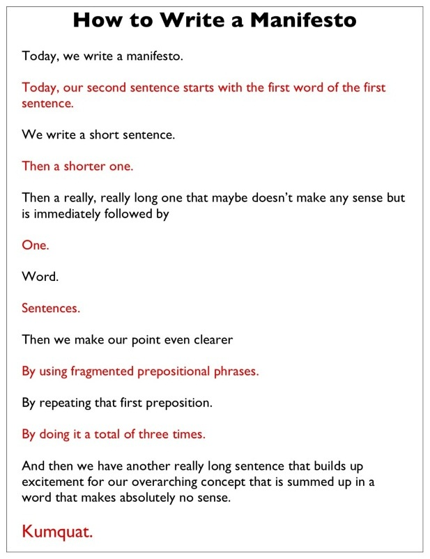 El Manifiesto Manifiesto