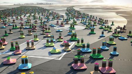 Dunne & Raby imaginan toda una civilización, los 'Digitarians', que casi viven su vida completa en autos autónomos.