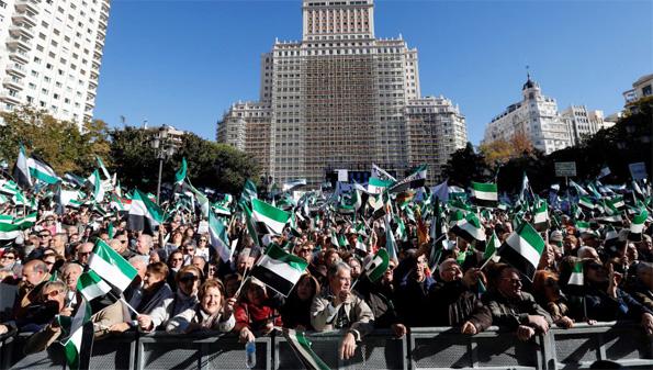 Manifestación por el tren digno en Extremadura