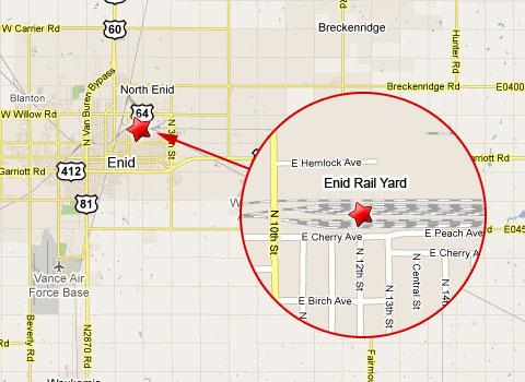 map enid