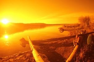 Lake Sammamish in burning gold