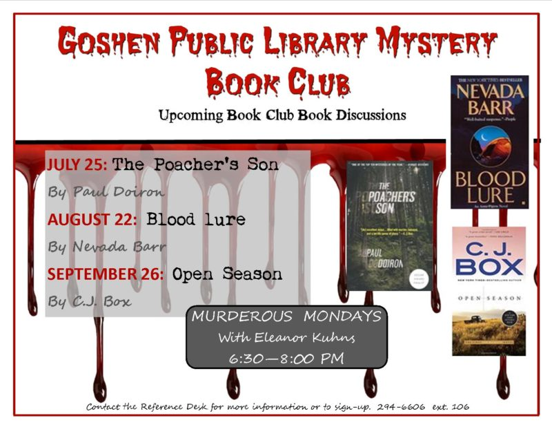 murder mystery upcomming selections 07.16 thru 09.16