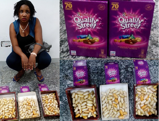 24 year old Rose Uche Arrested With 193 Wraps Of Cocaine At Lagos Airport