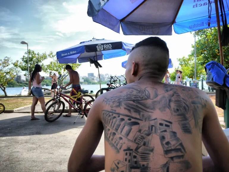 A Patriotic Carioca with Rio de Janeiro Tattooed All Over His Back