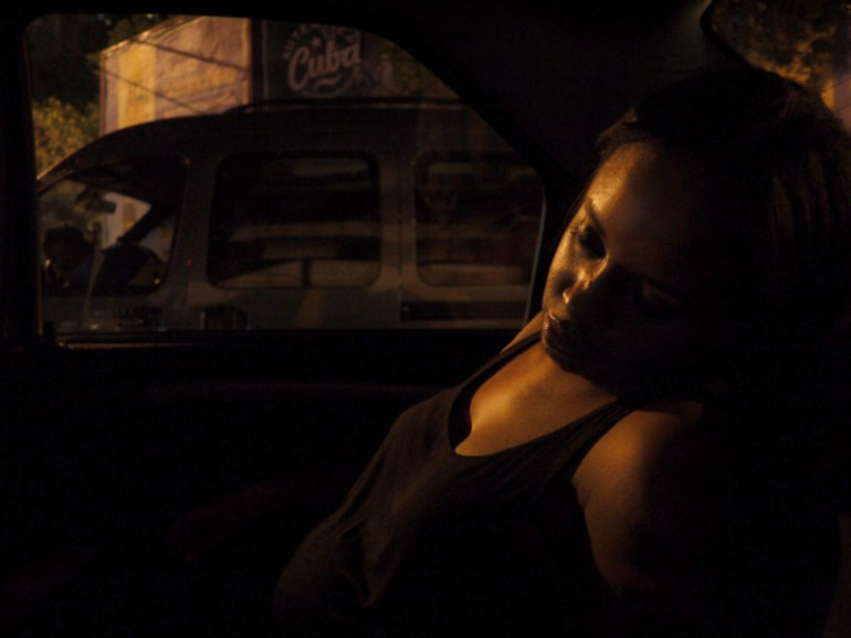 Nat Sleeping in a Taxi in Buenos Aires, Argentina