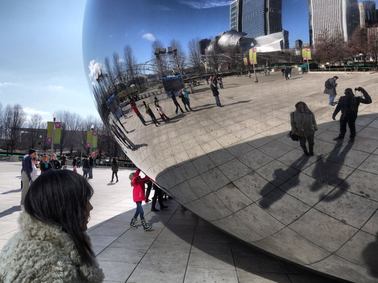 Nat and Mase at Cloud Gate (The Bean) in Chicago