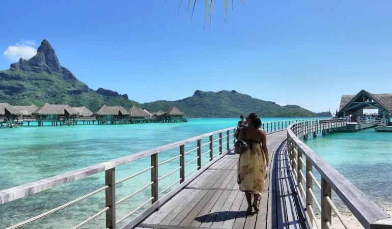 Nat Walking Along the Jetty at the Intercontinental Bora Bora Resort & Thalasso Spa