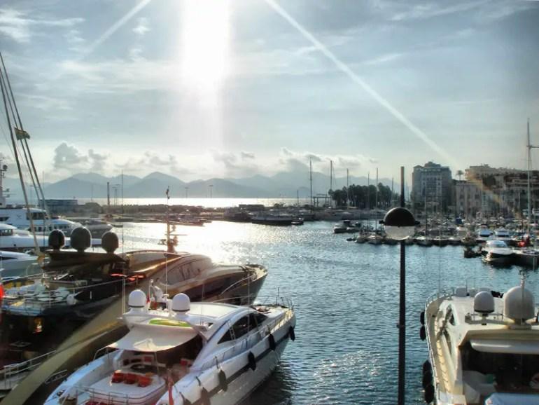 Vieux Port de Cannes - Yachts on the Harbour