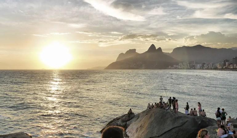 Sunset on the Rocks at Arpoador - Rio de Janeiro, Brazil